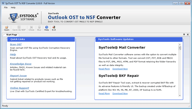 Launch OST to NSF Converter