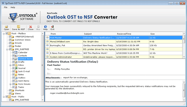 Software Previews OST file